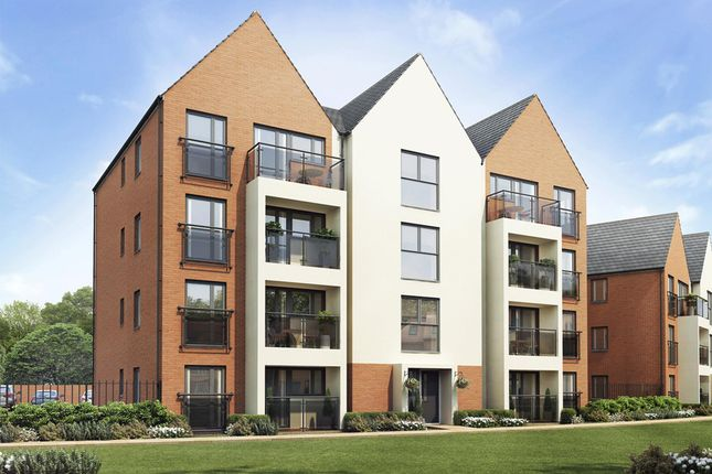 "Thumbnail Flat for sale in ""Woodbury"" at Caledonia Road, Off Kiln Farm, Milton Keynes"