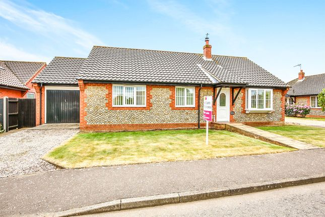 Thumbnail Detached bungalow for sale in Stevens Road, Little Snoring, Fakenham
