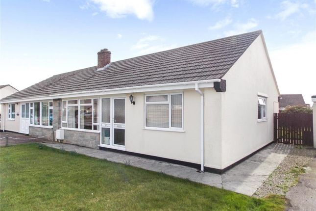 Thumbnail Semi-detached bungalow for sale in Carlyon Close, Threemilestone, Truro