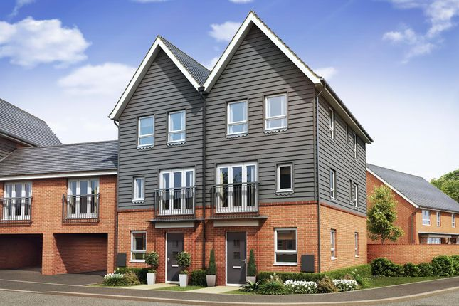 "Thumbnail End terrace house for sale in ""Faversham"" at Countess Way, Broughton, Milton Keynes"