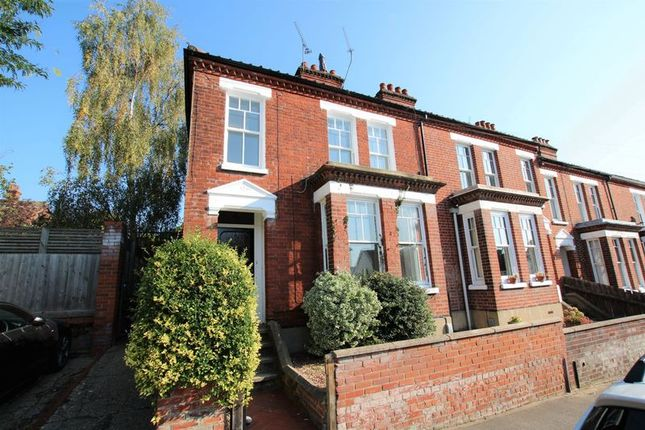 Thumbnail End terrace house to rent in Whitehall Road, Golden Triangle, Norwich