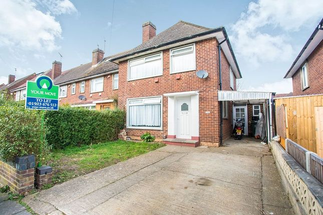 Thumbnail Semi-detached house to rent in Leggatts Rise, Watford