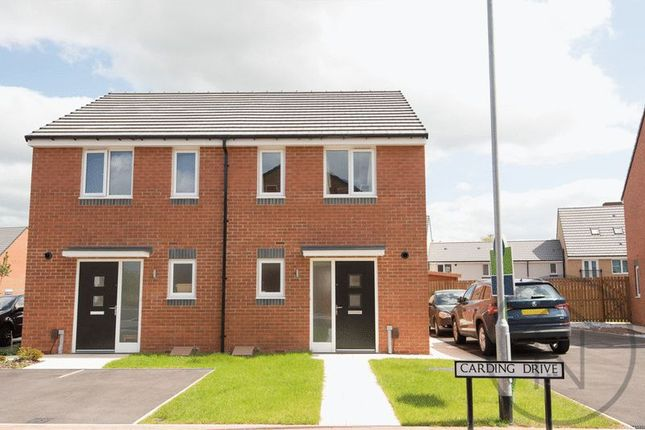 Thumbnail Semi-detached house for sale in Carding Drive, Darlington