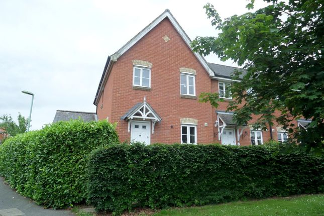 Thumbnail End terrace house to rent in Sampson Drive, Long Melford, Sudbury