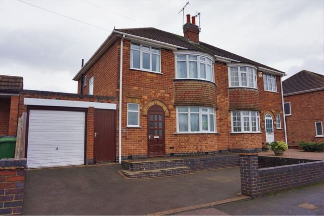 Thumbnail Semi-detached house for sale in Kingsway North, Leicester