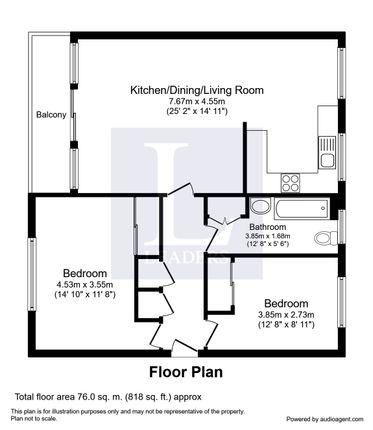 Floor Plan of Churchill Court, Millfield Close, Rustington BN16