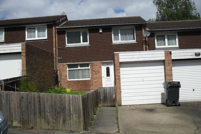 Thumbnail Town house to rent in Dudlestone Close, Leicester