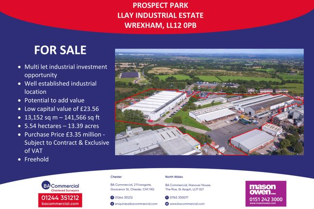 Thumbnail Industrial for sale in Llay Industrial Estate, Wrexham