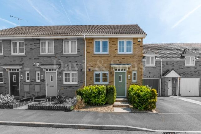 Thumbnail End terrace house for sale in Schooner Close, Newport, Gwent.