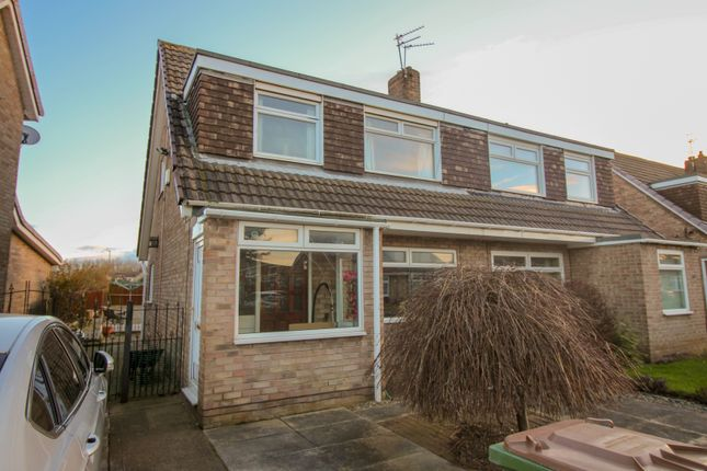 Thumbnail Semi-detached house for sale in Cayton Close, Redcar, Cleveland