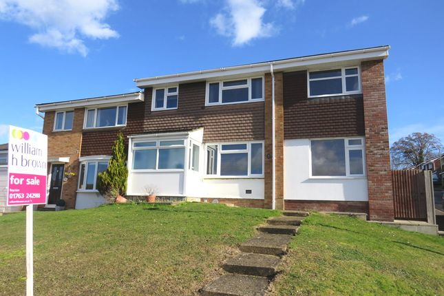 Thumbnail Semi-detached house for sale in Windsor Road, Royston