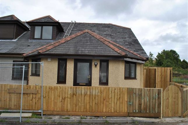 Thumbnail Semi-detached bungalow to rent in Victoria Road, Rhymney, Tredegar