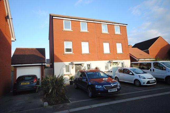 Thumbnail Semi-detached house for sale in Gratton Park, Cranbrook, Exeter