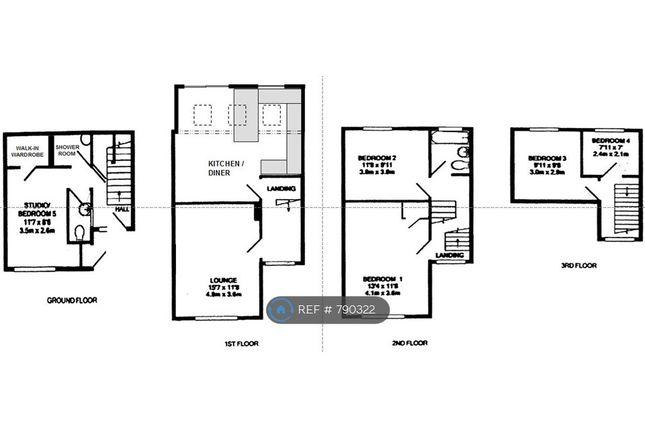 Thumbnail Terraced house to rent in Shakespeare Road, Basingstoke