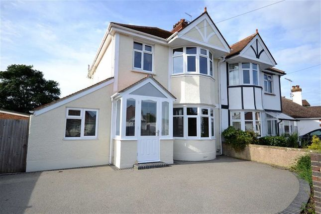 Thumbnail Semi-detached house for sale in Charmandean Road, Broadwater, Worthing, West Sussex