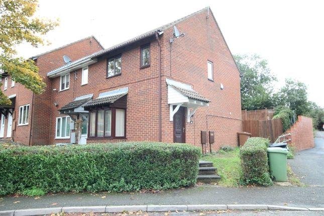 Thumbnail End terrace house to rent in Senwick Drive, Wellingborough, Northamptonshire