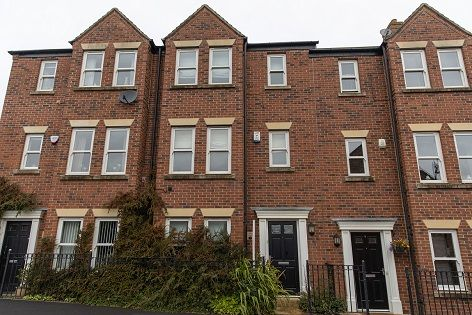 Thumbnail Terraced house to rent in Warkworth Woods, Gosforth, Newcastle Upon Tyne