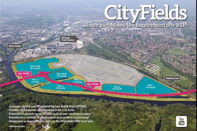 Thumbnail Land for sale in City Fields, Waterside Business Hub, Wakefield, West Yorkshire, UK