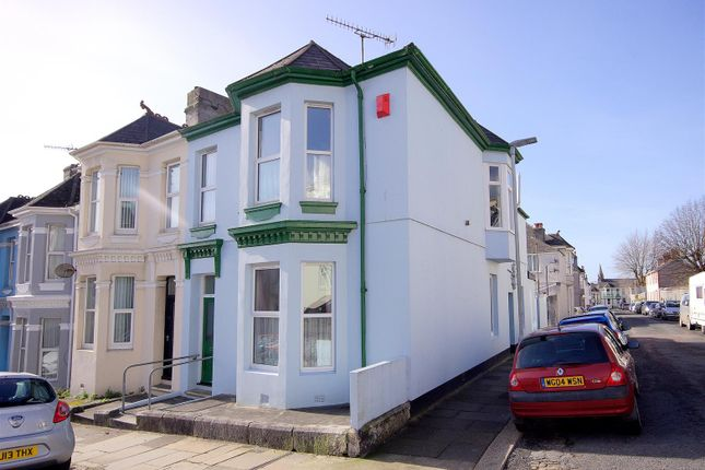 Thumbnail End terrace house for sale in Maybank Road, Plymouth