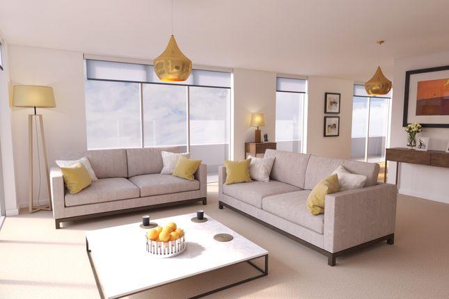 Living Area CGI of Elfin Square, Edinburgh EH11