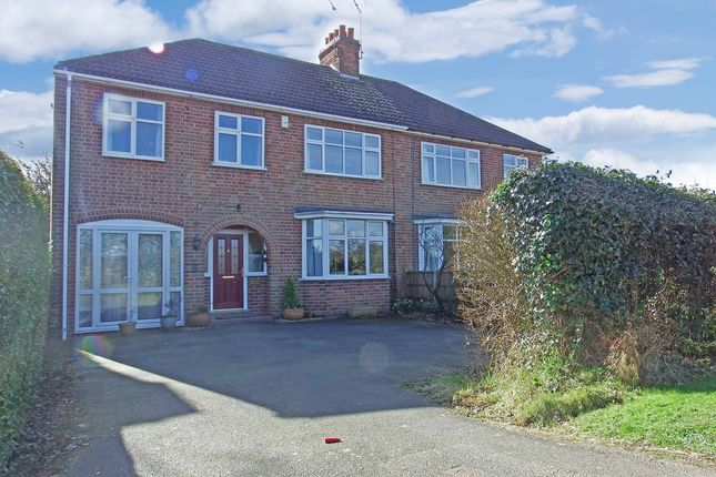 Thumbnail Semi-detached house for sale in Bradgate Road, Newtown Linford, Leicester