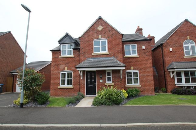 Thumbnail Detached house for sale in Bader Close, Hinckley