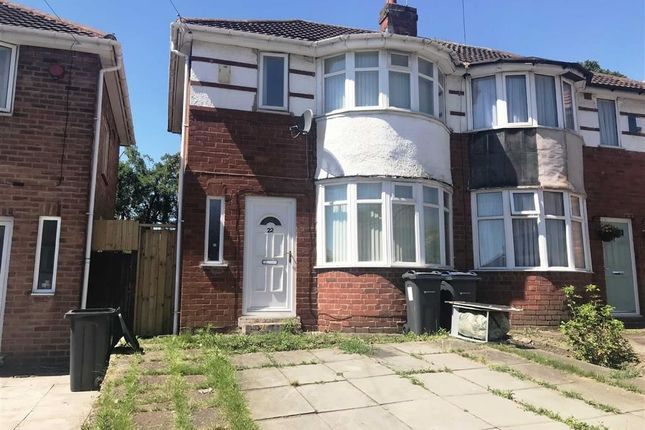 Thumbnail Semi-detached house to rent in Haycroft Avenue, Ward End, Birmingham