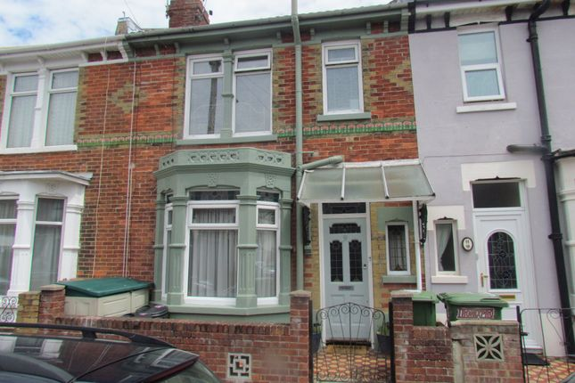 Thumbnail Terraced house to rent in Catisfield Road, Southsea