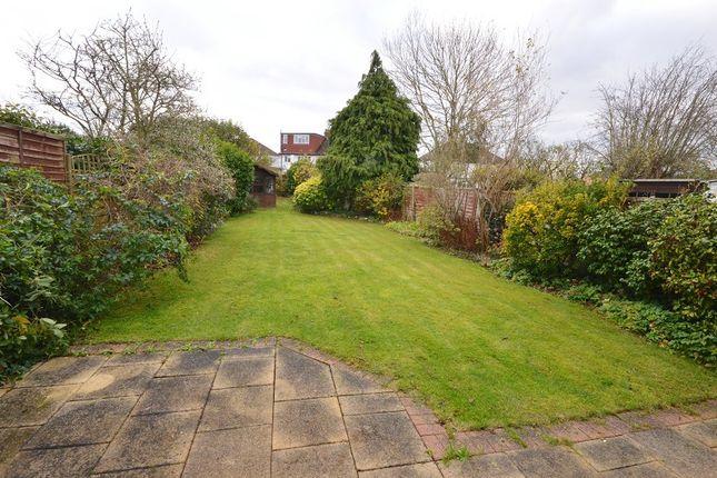 Garden of Elm Road, Chessington, Surrey. KT9