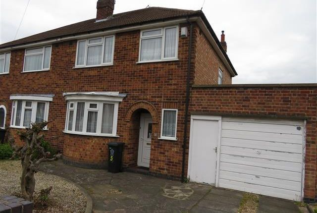 Thumbnail Semi-detached house to rent in Brancaster Close, Leicester
