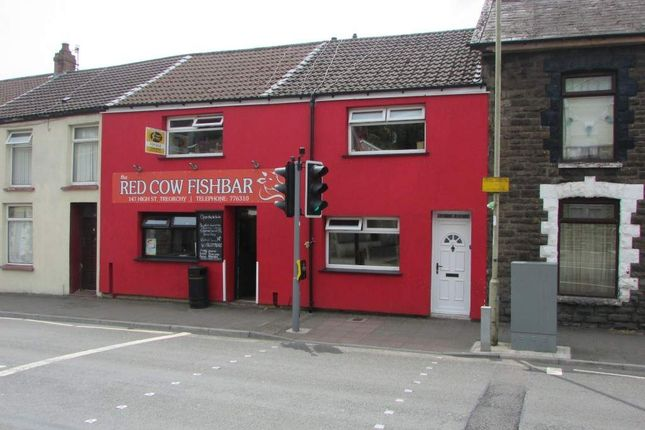 Thumbnail Retail premises for sale in High Street, Treorchy