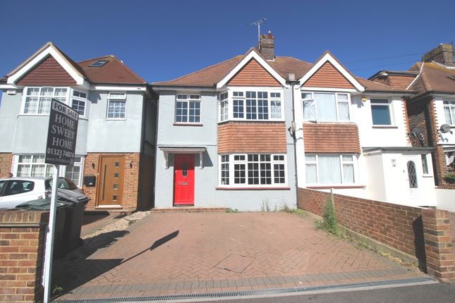 Thumbnail Semi-detached house for sale in Churchdale Road, Roselands, Eastbourne