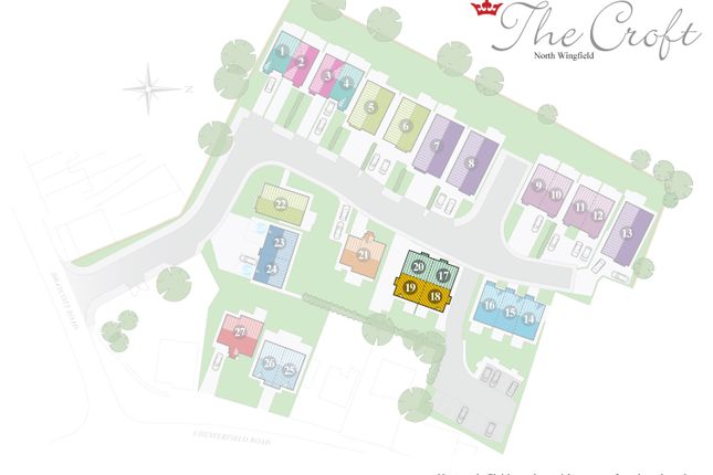 Site Plan of The Squire, The Croft, North Wingfield S42