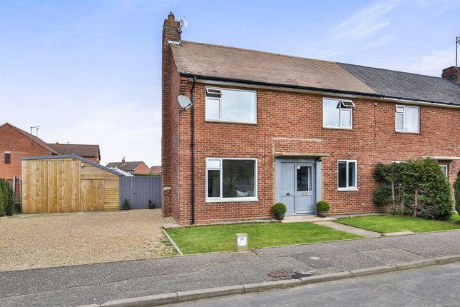 Thumbnail Semi-detached house for sale in Lancaster Road, Sculthorpe, Fakenham