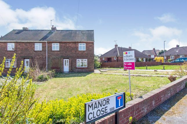 3 bed semi-detached house for sale in Manor Close, Maltby, Rotherham S66