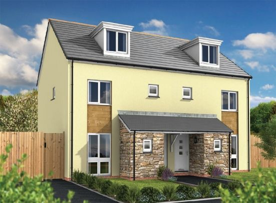 Semi-detached house for sale in Aglets Way, Porthpean, St Austell