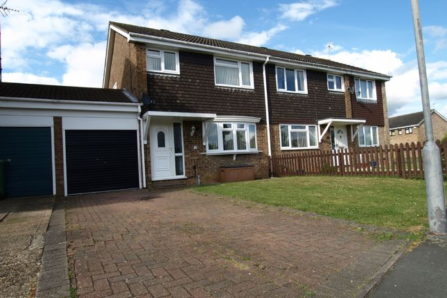 Thumbnail Semi-detached house for sale in Kipling Drive, Newport Pagnell, Buckinghamshire