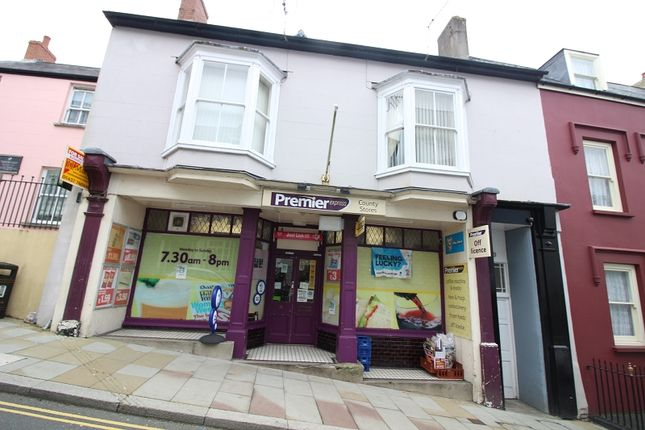 Retail premises for sale in 15 Market Street, Haverfordwest, Pembrokeshire.