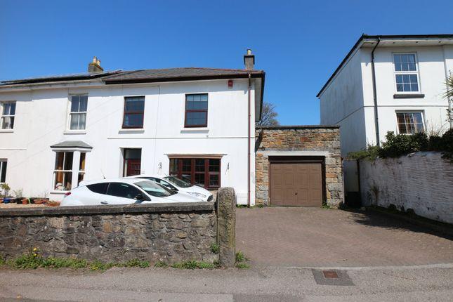 Thumbnail Semi-detached house for sale in Trevu Road, Camborne
