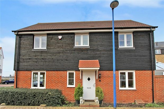 Thumbnail Link-detached house for sale in Bluewater Quay, Wixams, Bedfordshire