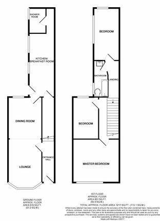 Floor Plan of Gladstone Street, Winsford CW7