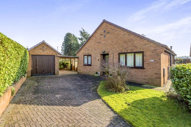 Thumbnail Detached bungalow for sale in Windmill Close, Uttoxeter