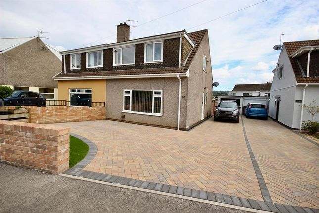Semi-detached house for sale in Cherry Tree Road, The Bryn, Pontllanfraith, Blackwood