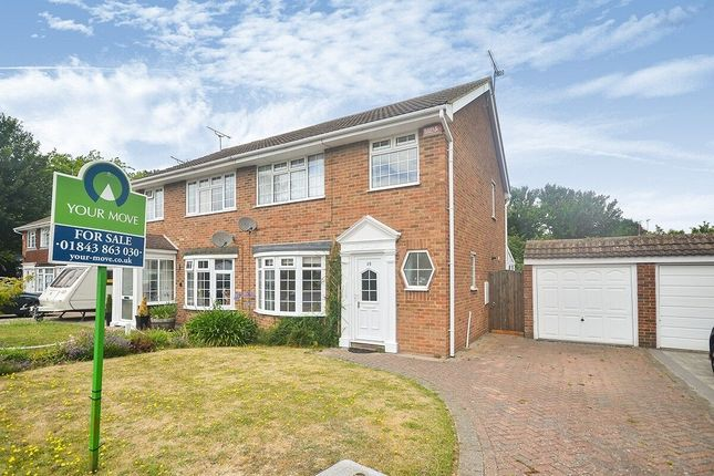 3 bed semi-detached house to rent in Hildersham Close, Broadstairs CT10