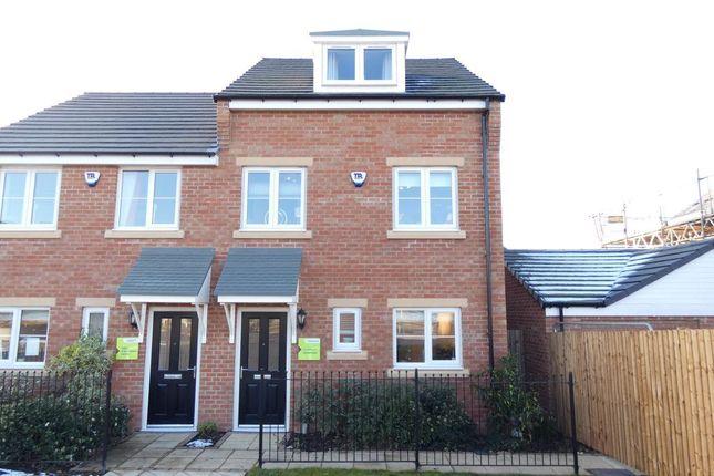 Thumbnail Semi-detached house to rent in Kirkfields, Sherburn Hill, Durham