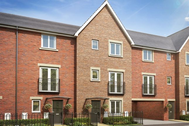 "Thumbnail Town house for sale in ""The Willow "" at Brickburn Close, Hampton Centre, Peterborough"