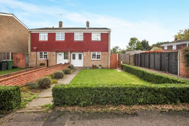 Thumbnail Semi-detached house for sale in St Andrews Close, Slip End, Luton