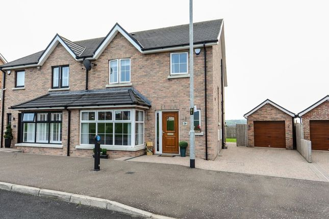 Thumbnail Semi-detached house for sale in Millreagh, Dundonald, Belfast