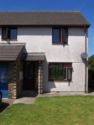 Thumbnail Semi-detached house to rent in Gardeners Way, St. Issey, Wadebridge