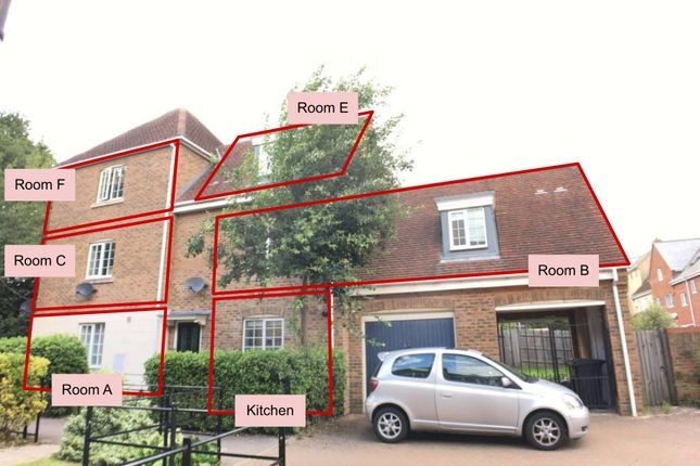 Thumbnail End terrace house for sale in Hakewill Way, Colchester